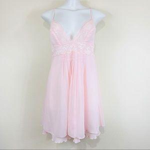 Victoria's Secret | Soft Pink Chiffon Babydoll